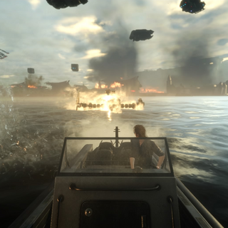 Ignis's speed boat in <i>Episode Ignis</i>.