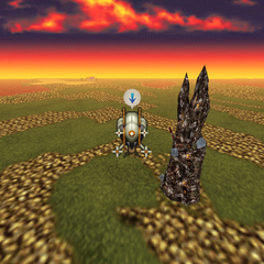 Kefka's Tower on the World Map (iOS/Android/PC).