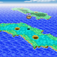 Cardia Islands on the World Map (GBA).