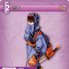 Trading Card of a male Ninja.