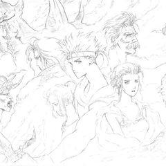 The Cast by Tetsuya Nomura.