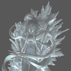 Unused model of Serah in crystal stasis.