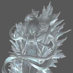 Modelo não usado de Serah em estase cristalina.