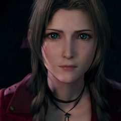 Aerith watches as Whispers swarm Shinra HQ.