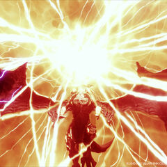 Bahamut using Teraflare in the ending of <i><a href=