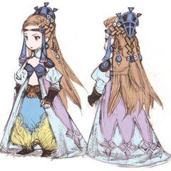 Arte conceitual da Princesa Sara por Akihiko Yoshida.