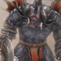 <i>FFXII</i> Behemoth as seen from the Bestiary.