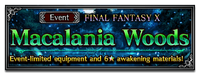 FFBE Event Macalania Woods