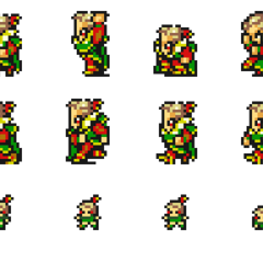 Set of Kefka's sprites.