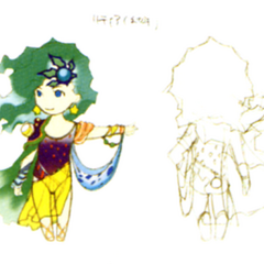 Akira Oguro concept art of child Rydia (DS).