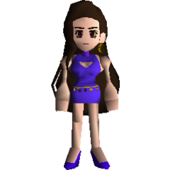 Tifa in her Wall Market outfit.