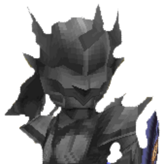 Render of Dark Knight Cecil petrified in <i><a href=