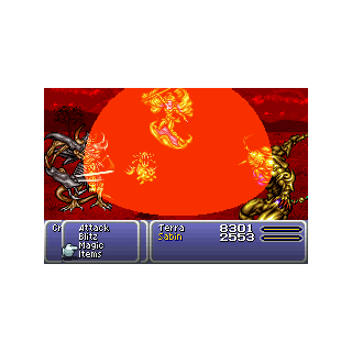 Crusader is summoned into battle (GBA).