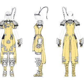 Monk Relic Equipment concept art.