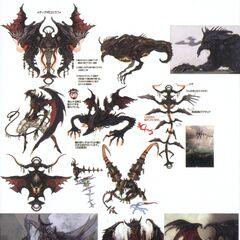 Obra de Diabolos de como ele iria aparecer em <i>Final Fantasy XIII</i>.