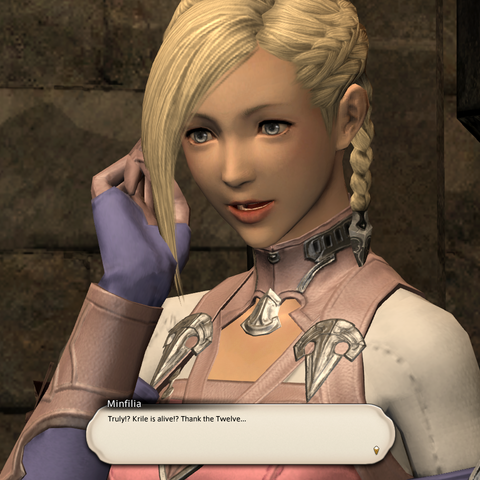 Minfilia using a linkpearl.