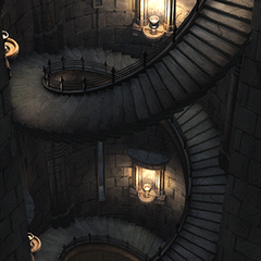 More of the stairway in west tower.