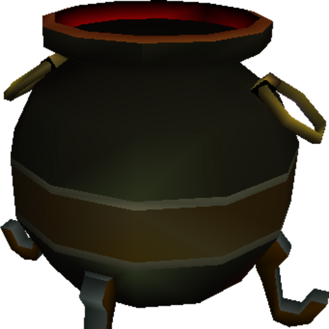 Model for Hades's cauldron in <i>Final Fantasy VII</i>.