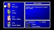 FFI Character Naming PSP