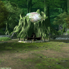 Stone with Nophica's symbol in legacy <i>Final Fantasy XIV</i>.