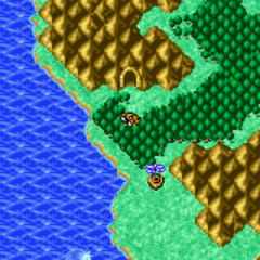 Mount Duergar on the World Map (GBA).