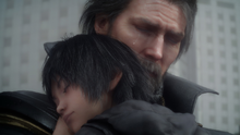 Young Noctis and King Regis Close Up