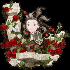 Yunita among roses.