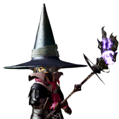 Black Mage render for <i>Final Fantasy XIV: A Realm Reborn</i>.
