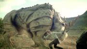 Dualhorn in battle in FFXV