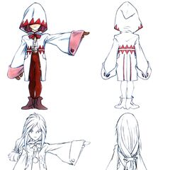 Concept art of Garnet as a White Mage in <i>Final Fantasy IX</i>.
