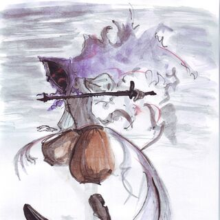 A Ruin Ghost Artwork In Watercolor made by The Lonely Rose.