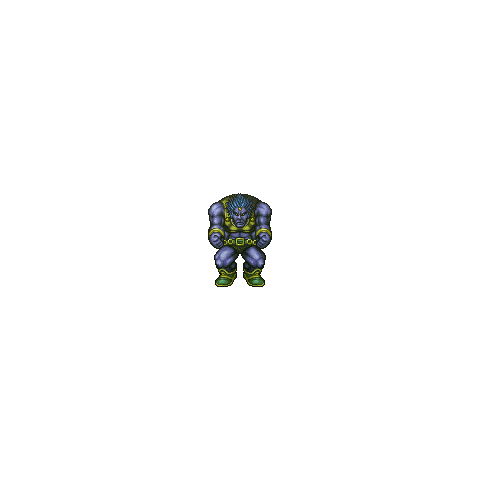 In-game sprite from the PSP and iOS versions.