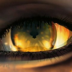 Close-up of Edea's eye.