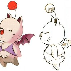 Concept art of a female moogle.