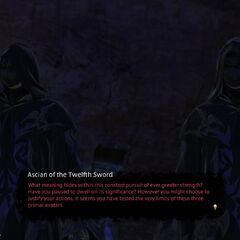 <i>Ascians of the Twelfth Sword</i> e <i>Staff</i>.