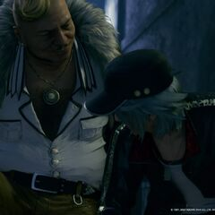 Corneo and Leslie in <i>Final Fantasy VII Remake</i>.