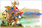 Crystal Defenders Ipod Touch Title Screen