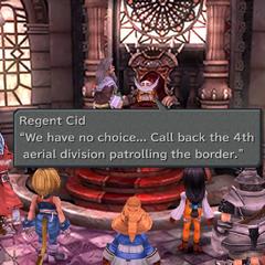 Regent Cid decides to intervene