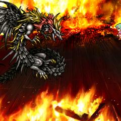 Сражение с Драконом Кайзером в версии игры для <a href=