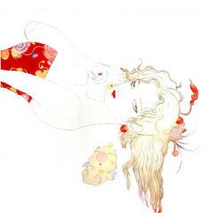 Рисунок Мога с Террой работы Ёситаки Амано.