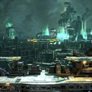 Background of the stage in <i>Super Smash Bros.</i>