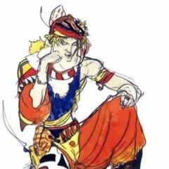 Каин без брони, рисунок Ёситака Амано.