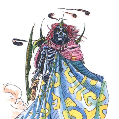 Alternate artwork by Yoshitaka Amano.