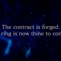Ignis forges a contract with the ring in <i>Episode Ignis</i> Verse 2.