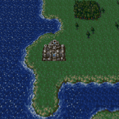 Doma Castle on the World of Balance map (SNES).