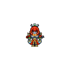 Gilgamesh's field sprite in the iOS version.