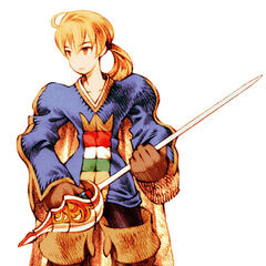 Ramza as a Squire in Chapter 1.