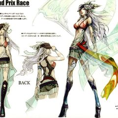 Grand Prix Race show girl artwork.