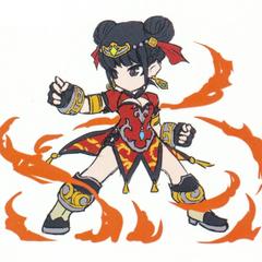 Xiao's sprite concept artwork.
