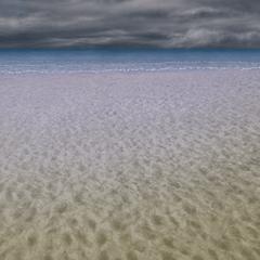 Praia arruinada.